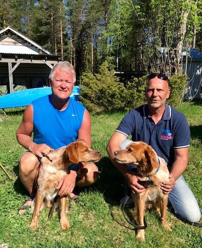 Inge med King och Morten med Pappa Röm - våra Norska deltagare